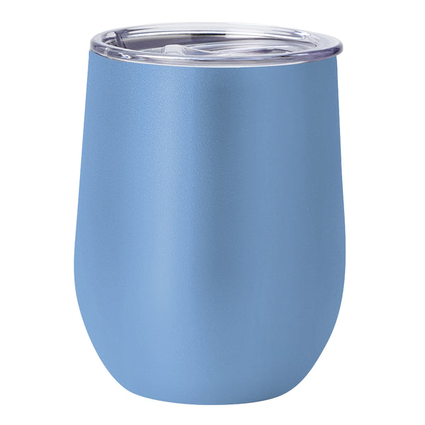 PURE Drinkware 10 oz Stemless Wine Glass - Powder Blue - PURE Drinkware