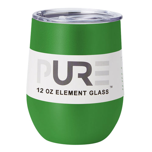 PURE Drinkware 12 oz Stemless Wine Glass - Green