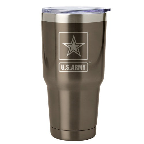 PURE Drinkware 30 oz Tumbler - Army (Gunmetal) - PURE Drinkware
