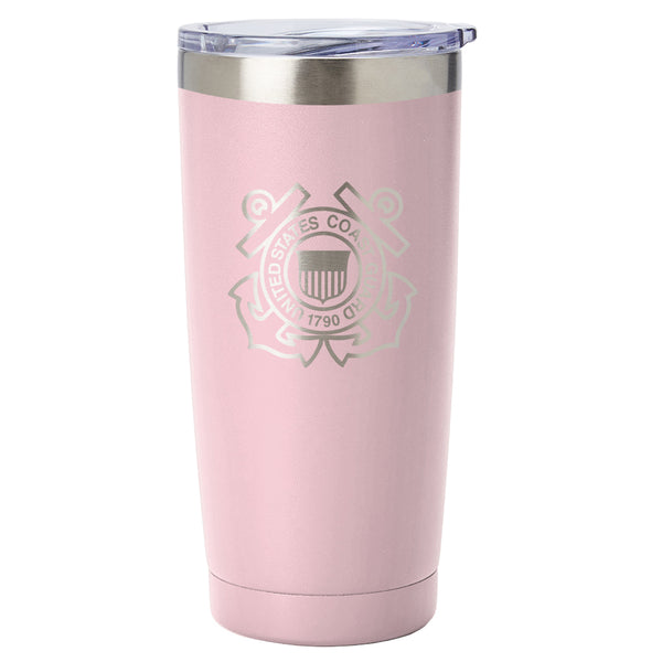 PURE Drinkware 20 oz Tumbler - Coast Guard (Candy Blush) - PURE Drinkware