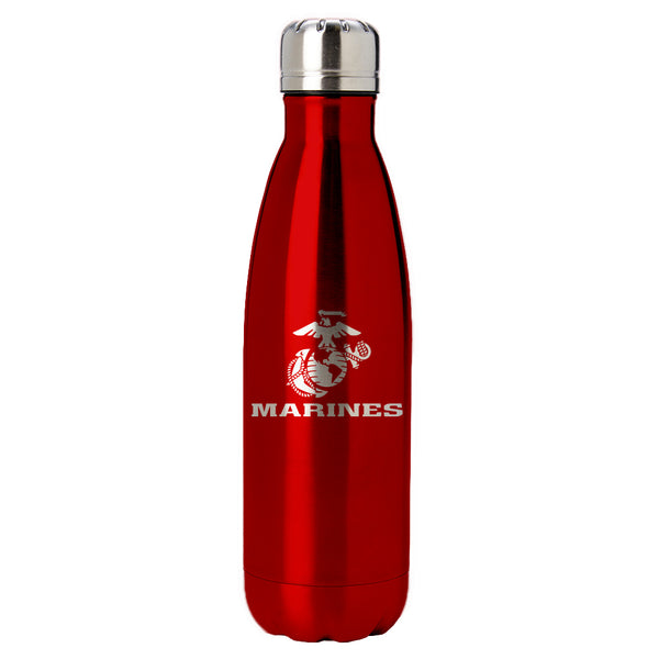 PURE Drinkware 17 oz Bottle - Marine Corps (Red) - PURE Drinkware