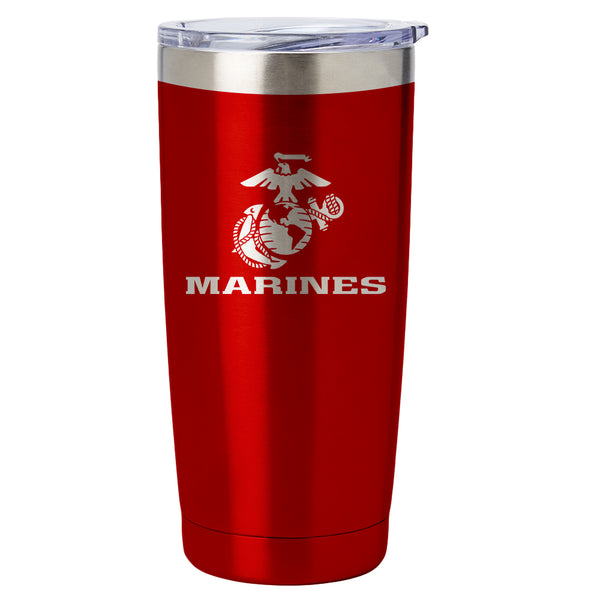 PURE Drinkware 20 oz Tumbler - Marine Corps (Red) - PURE Drinkware