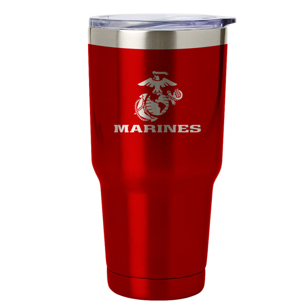 PURE Drinkware 30 oz Tumbler - Marine Corps (Red) - PURE Drinkware