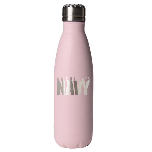 PURE Drinkware 17 oz Bottle - US Navy (Candy Blush) - PURE Drinkware