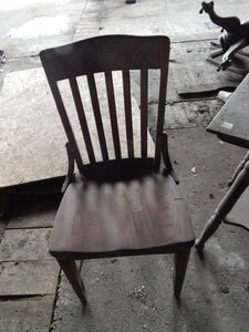 Shabby Mid-century Chair, Antique Rustic Salvage Excellent
