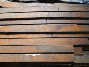 "50 SqFt Reclaimed Oak Floor, Rustic Salvage Woodworking Lumber 3'x3""x3/4"""