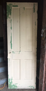 "Rustic Victorian Interior Door, Crackle Gold & White 74"" x 26"""