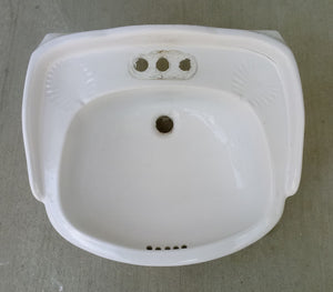 Round Drop-in Large Pedestal Sink