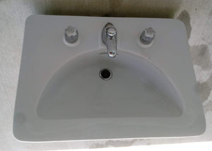 Drop-in or Console Bathroom Sink