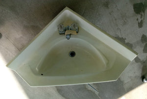 Drop-in Corner Bathroom Sink