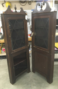 Pair of Matching Antique Corner Cabinets