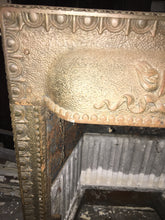 Antique Cast Iron Colonial Fireplace, Authentic Early 1900s Design 30""