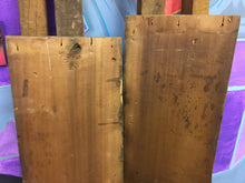 "2 Reclaimed Oak Panels, Floral Pressed Ceiling Trim Tabletop 61"" x 11"""