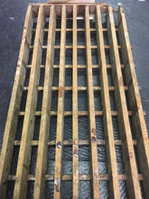 "Antique Wood Floor Vent Reclaimed Oak, Vintage Wood Gate 30""x9"""