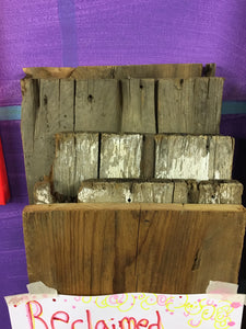 "Reclaimed Barn Wood Blanks, Rustic Weathered Wall Panels 12""x9"""