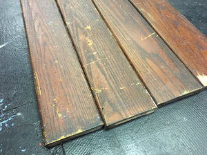"Reclaimed Wood Panels, Solid Oak Rustic Weathered Salvage Headboard Planks 79""x5"""