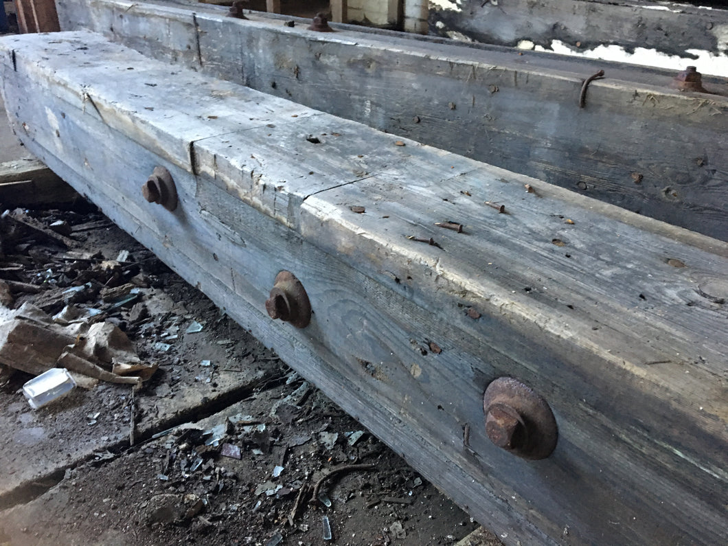 Antique Reclaimed Industrial Wood Beam, Rustic Architectural 9