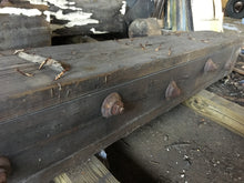 "Antique Reclaimed Industrial Wood Beam, Rustic Architectural 9"" x 9"" x 12'"