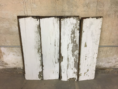 4 Reclaimed Farmhouse Wood Panels, Rustic Barn Wood Siding 36