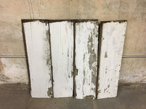 "4 Reclaimed Farmhouse Wood Panels, Rustic Barn Wood Siding 36""x9"""