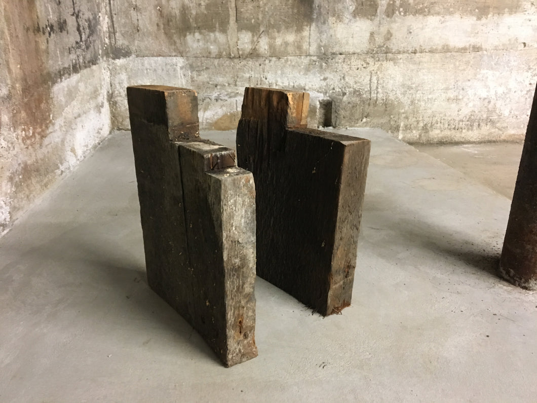 2 Notched Corner Joists, Reclaimed Victorian House Lumber 10
