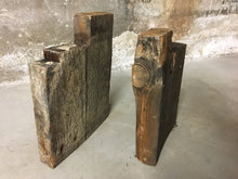 "2 Notched Corner Joists, Reclaimed Victorian House Lumber 10""x2"""