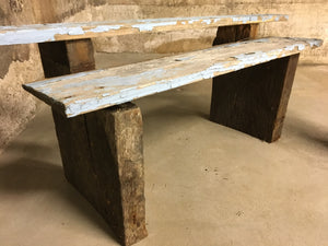 "Reclaimed Wood Small Bench Kit, Rustic Victorian Salvage 10""x2"""