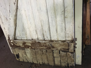 "Rustic Reclaimed Farmhouse Door, Large Crackle Blue Wood 78""x28"""
