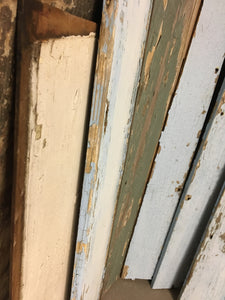 8 Reclaimed Farmhouse Wood Panels, Rustic Mixed Multi Color Wood Siding
