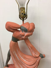 E. Bertolozzi 1950s Mid-Century Lamp, Flamenco Dancer Heavy Ceramic