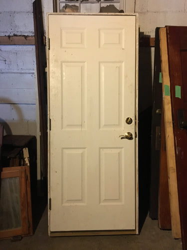 White Exterior Door w/ Frame 79