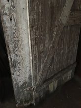 "Weathered Shabby Chic Barn Door, Crackle White Solid Exterior 72""x32"""