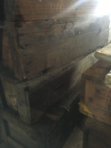 Antique Rustic Home Decor Shipping Crate, Shabby Repurpose Supply Box