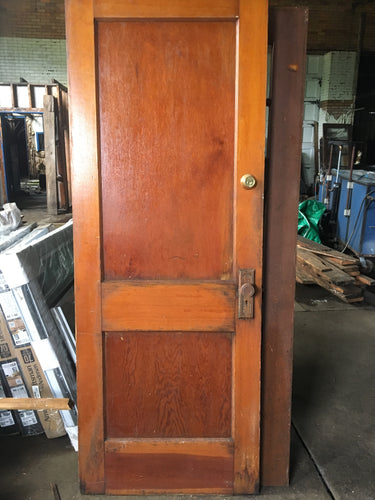 2 Panel Antique Brown Exterior Door 80