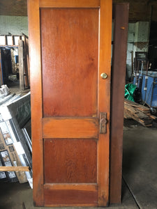 "2 Panel Antique Brown Exterior Door 80"" x 30"""