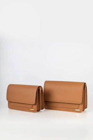 Two bags in front view curved