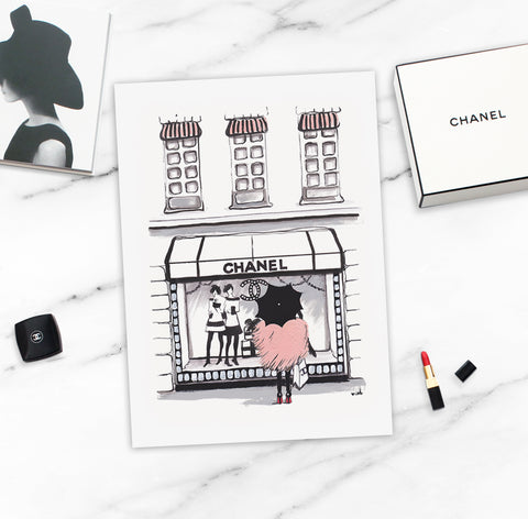 "Fashion Print ""Shopping Chanel"""
