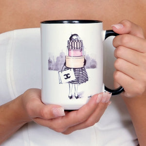 "Chanel Coffee Mug ""Shopping Junkie"""