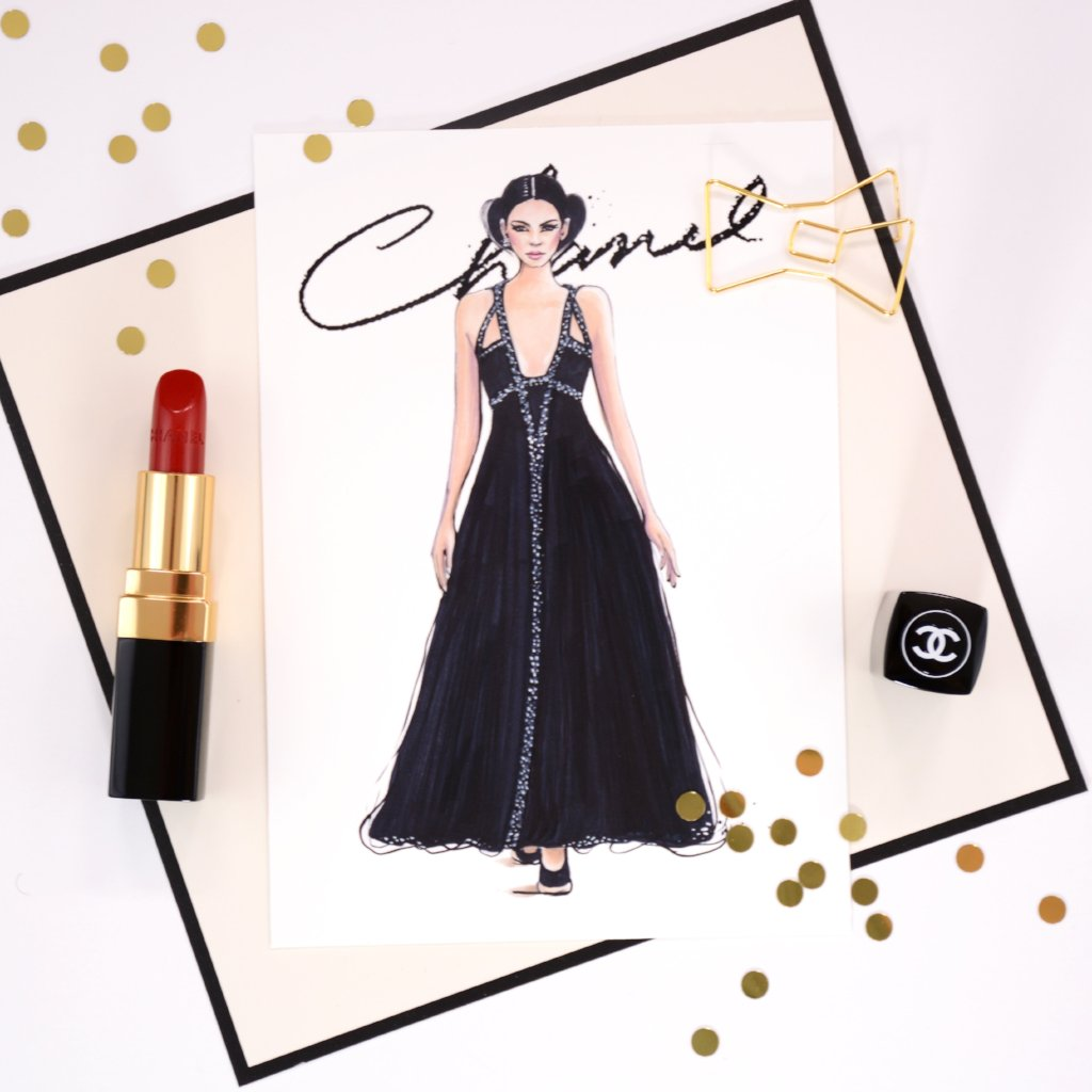 "Chanel Haute Couture Print ""Kendall In Chanel"""