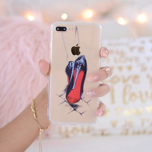 "Transparent iPhone Case ""Devil Wears Louboutin"""