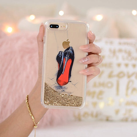 "Glitter iPhone Case ""Devil Wears Louboutin"""