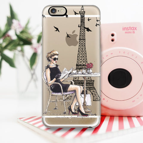 "Transparent iPhone Case ""Le Petit Dejeuner"""