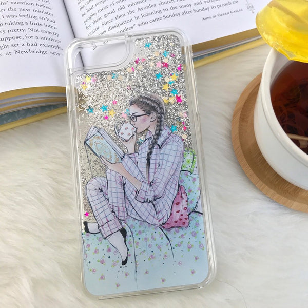 "Glitter iPhone Case ""My Mornings With Jane"""