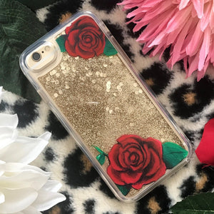 "Glitter iPhone Case ""Roses"""