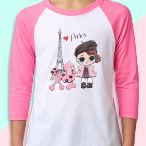"LOL Surprise Dolls Inspired T-Shirt ""Posh In Paris"""