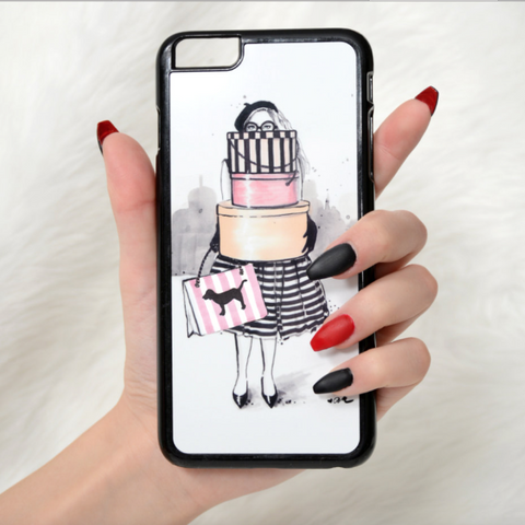 "Fashion iPhone Case ""Shopping Junkie"""