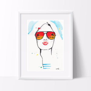 "Fashion Illustration ""Greetings From California"""