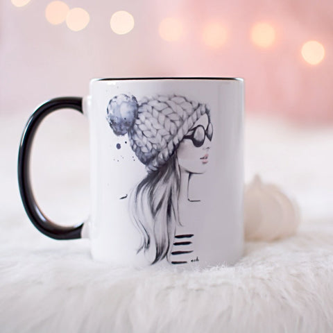 "Fashion Coffee Mug ""She Said She Had A World Of Her Own"""