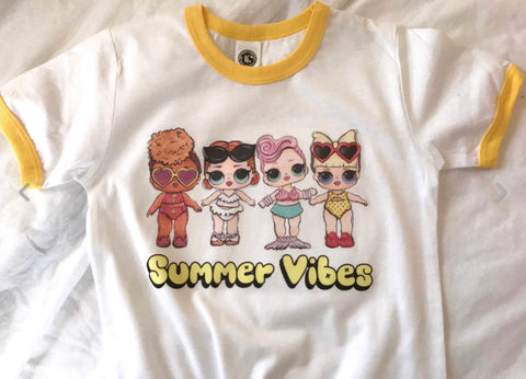 "LOL Surprise Dolls Inspired T-Shirt ""Summer Vibes"""