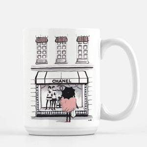 "Chanel Coffee Mug ""Shopping Chanel"""